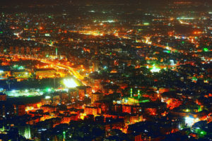 Damascus. Night view